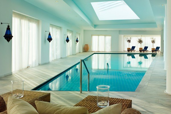 Journey to Greece Blue Palace Resort Elounda Crete Indoor Pool