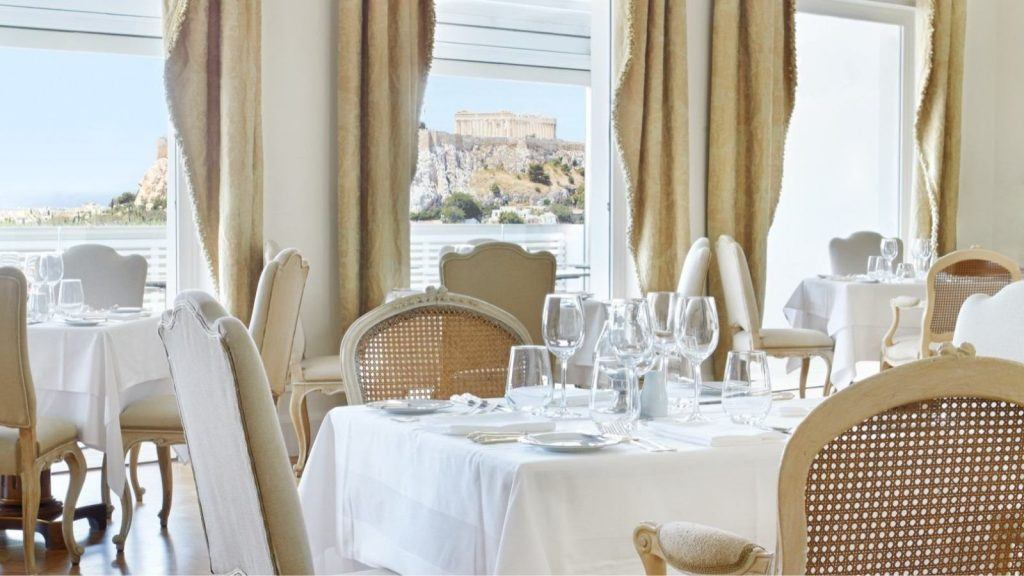 Tudor Hall Restaurant Athens King George View Acropolis