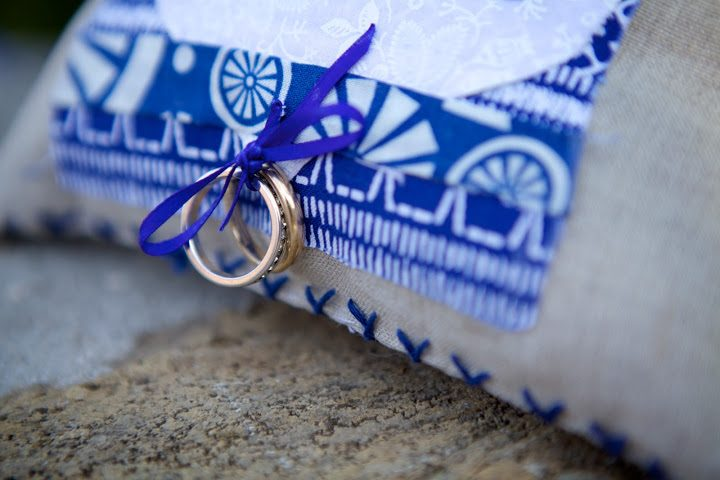 Blue Palace Resort Elounda Crete Romance Wedding Rings on Pillow