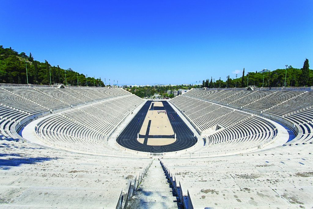Kallimarmaron or Panathenaic Stadium - Athens from Above tour Hotel King George
