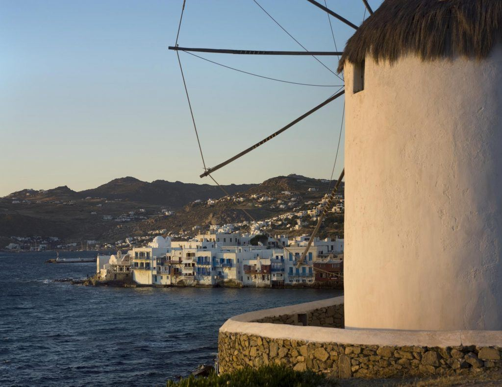Mykonos Town Windmill View