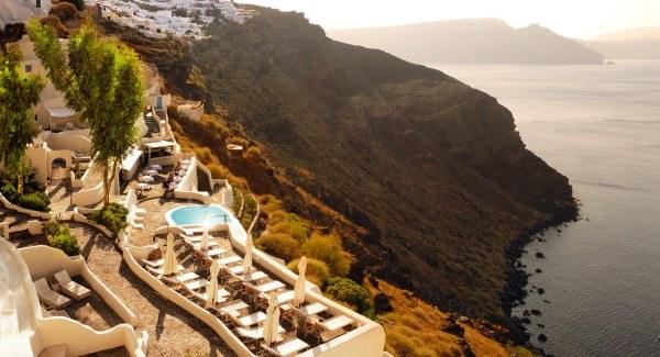 Journey to Greece Mystique Santorini Cliff View