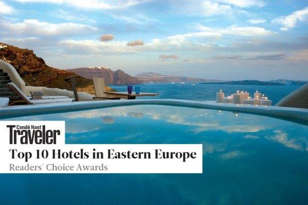 Journey to Greece Mystique Santorini Edge Pool