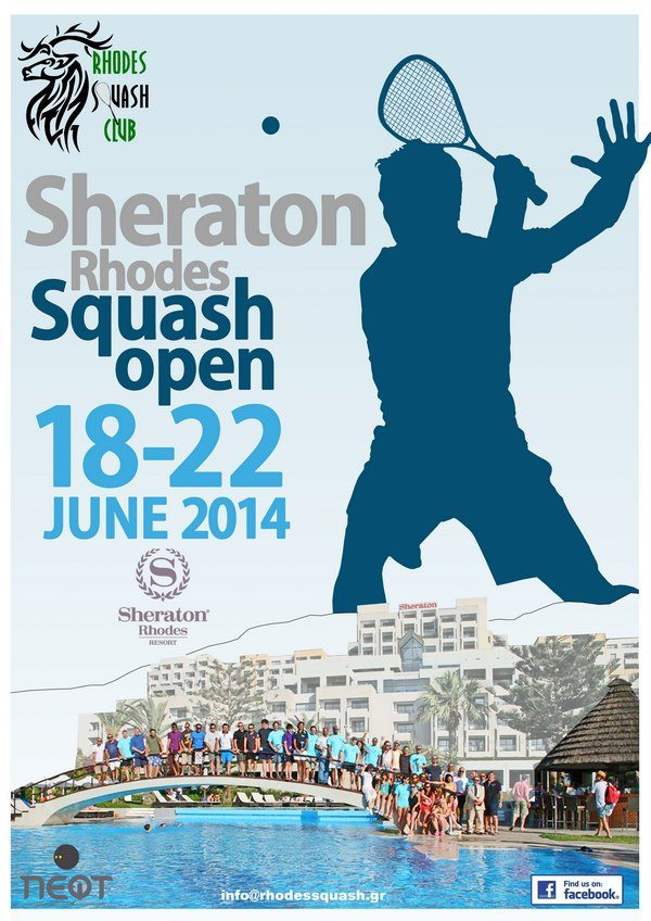 Journey to Greece Sheraton Rhodes Resort Squash Poster