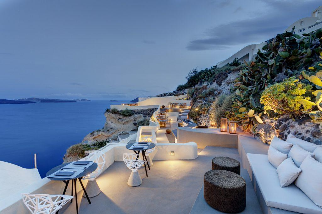ASEA Lounge Restaurant at Mystique a Luxury Collection Hotel Santorini