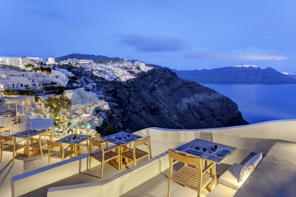 ASEA Lounge at Mystique a Luxury Collection Hotel Santorini