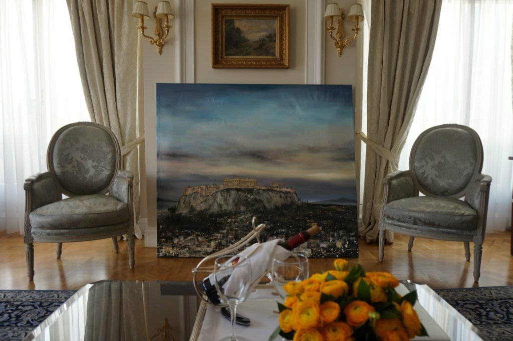 Paint the view from the Penthouse Suite in Athens with renowned artist Jeannine Platz