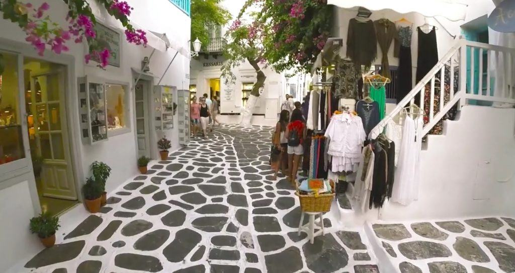 mykonos town streets_Journey Greece_Santa Marina Hotel_Greek Islands