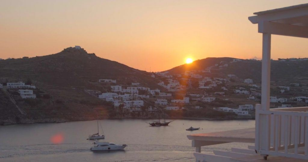 sunset in mykonos_Journey Greece_Santa Marina Hotel