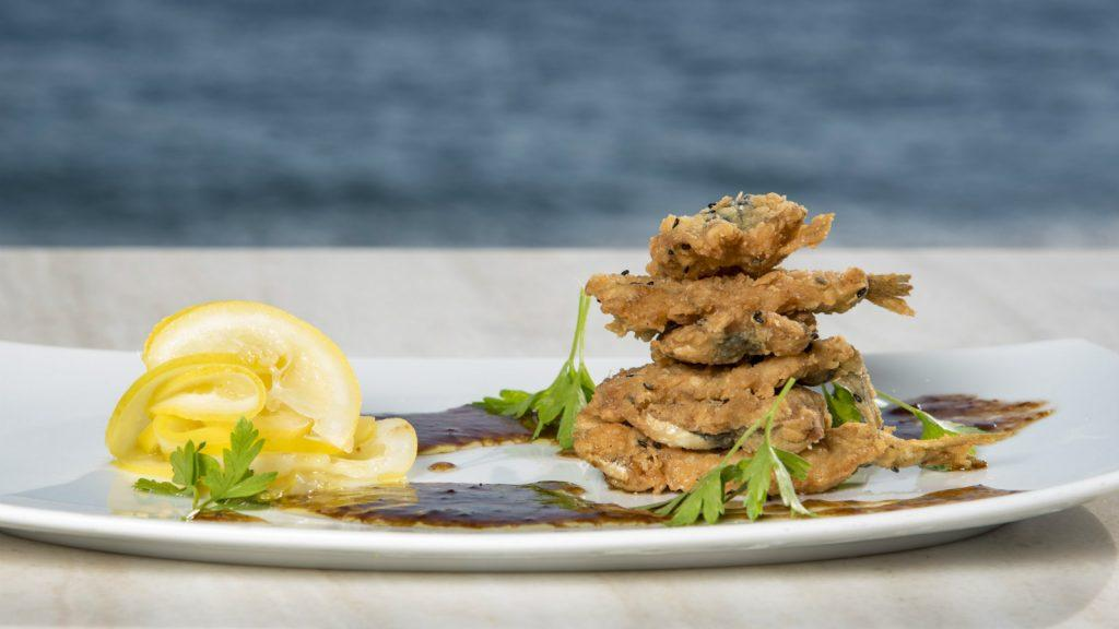 The Romanos Luxury Collection Resort Costa Navarino Barbouni Restaurant Dining Fish Dish