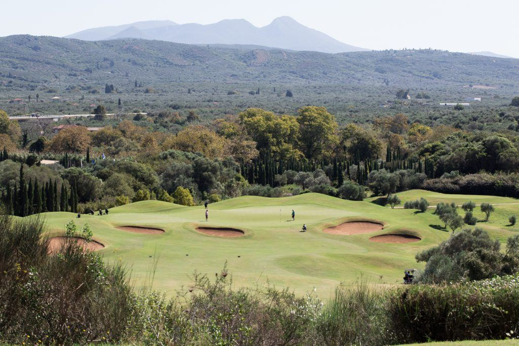 1. COSTA NAVARINO'S SURROUNDINGS The lush green mountains at the one side and the infinite blue of the Ionian Sea at the other.