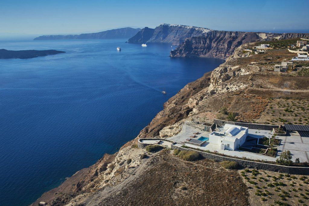 journey-to-greece-nafsika-estate-santorini-luxury-villa-aerial-view