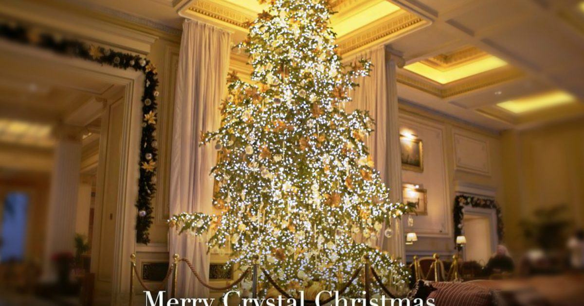 merry crystal christmas at hotel grande bretagne athens