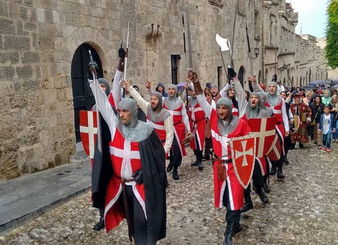 Medieval Festival Rhodes parade greece
