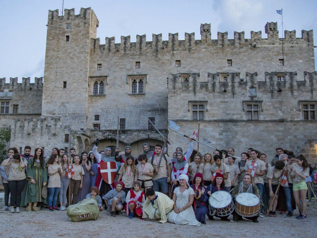 Medieval Festival Hunt of Dragon Rhodes Grece