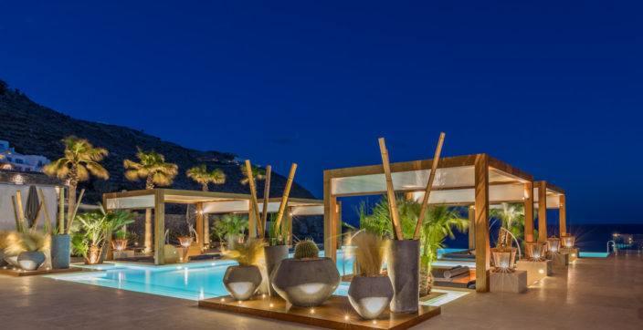 Oasis Pool & Lounge at Santa Marina mykonos greece