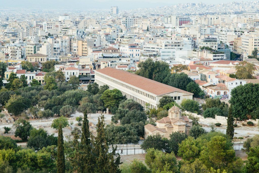 Athens - Grand Bretagne-journey greece athens from above story