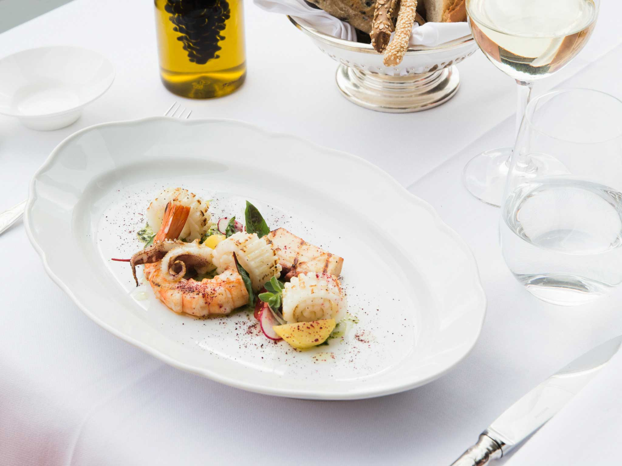 cooked food in oblong white plate