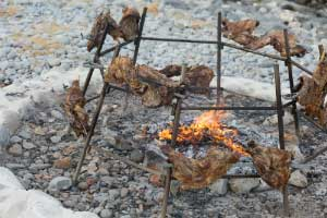 selective focus photography of grilled meats