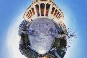 fish eye photography of building