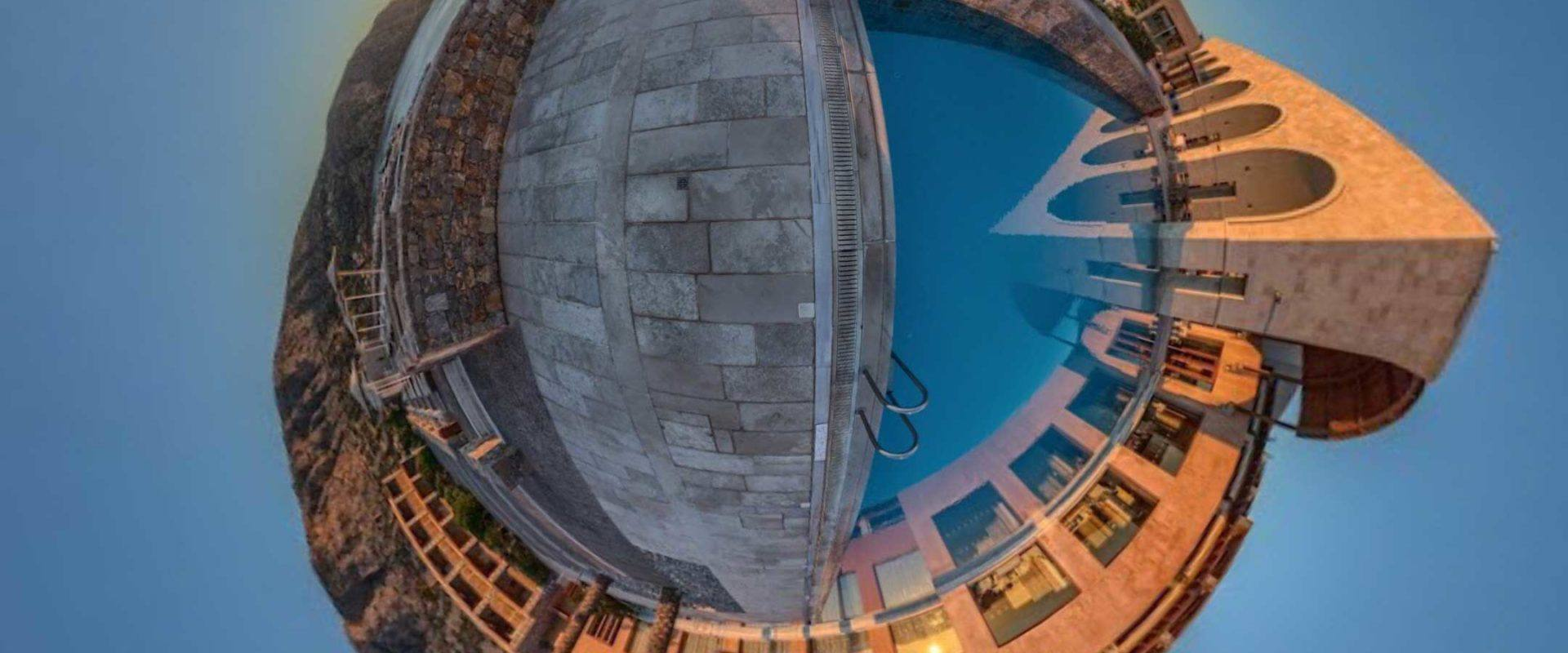 aerial photography of pool