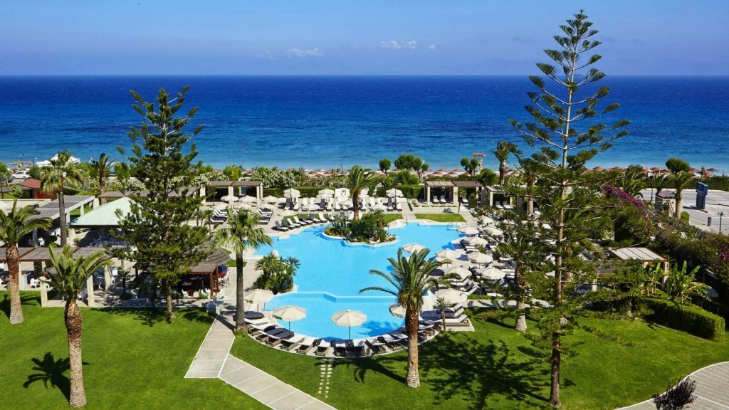 Pool and Beach View at the Sheraton Rhodes Resort