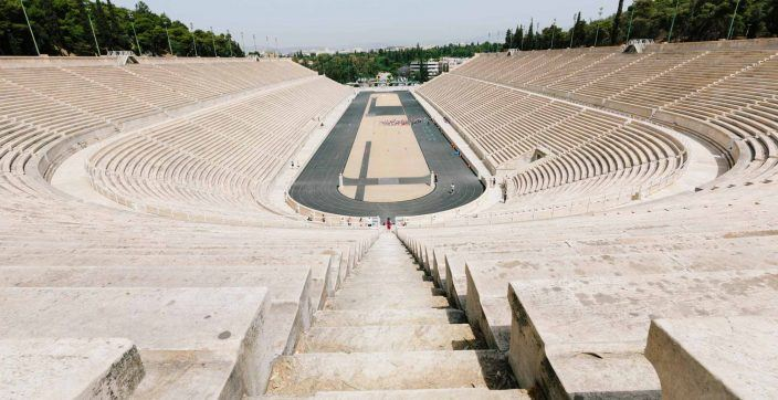 brown concrete stadium during daytime