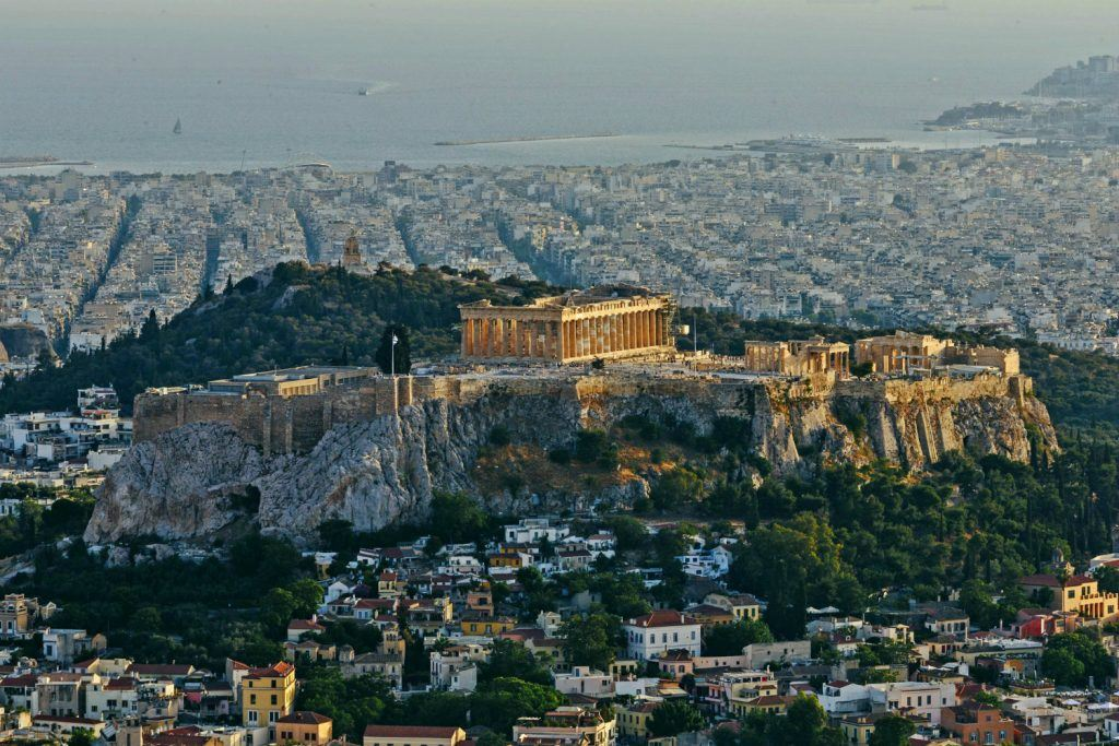 View to the Acropolis taken from Lycabettus Hill_JourneyGreece