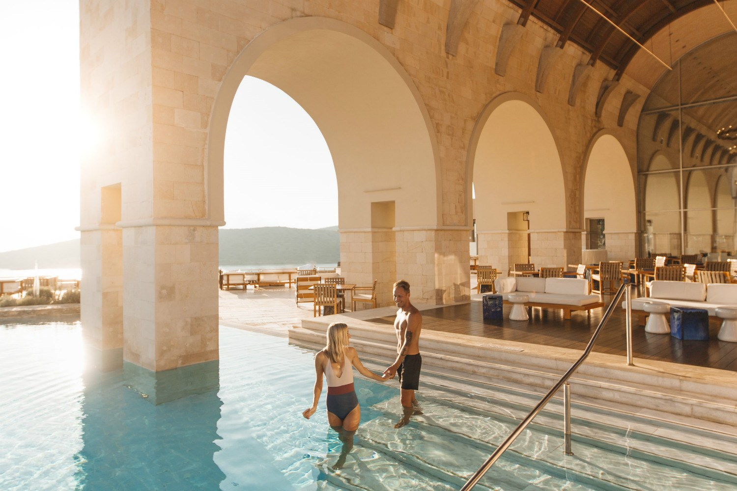 blue palace crete luxury collection greece fitness journey