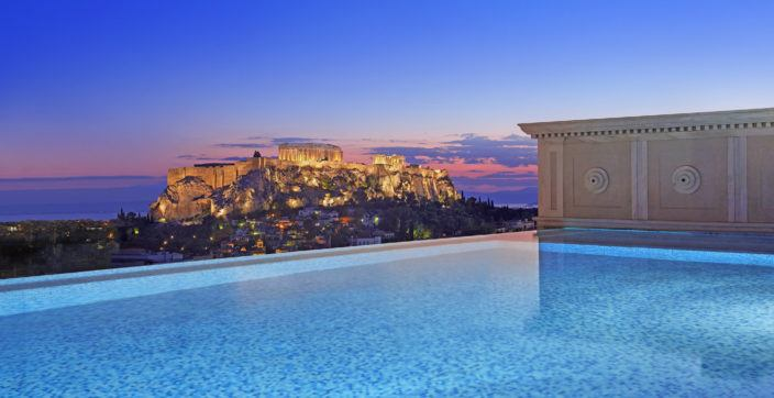 Private pool at the Penthouse Suite of King George, a Luxury Collection Hotel Athens