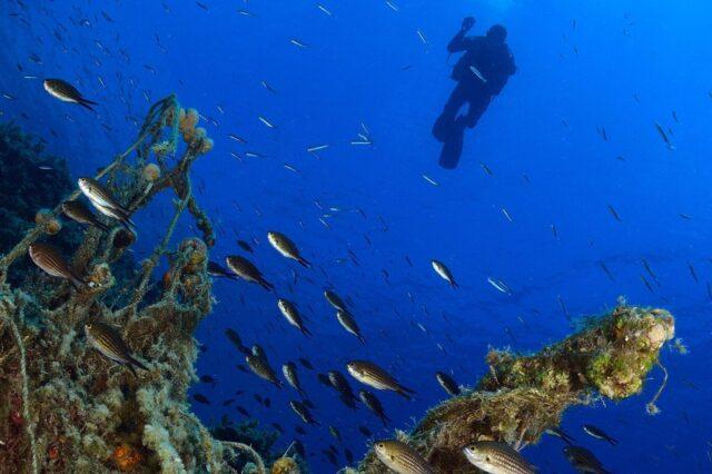 Scuba diving at Costa Navarino